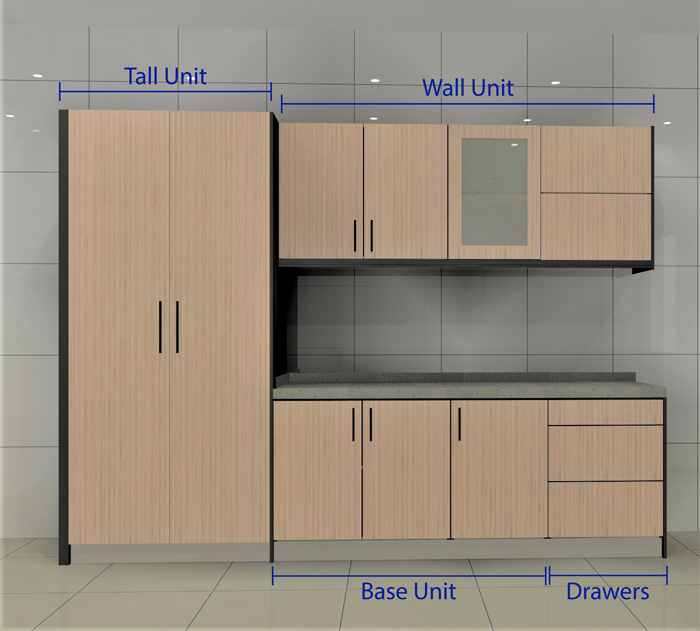 Parts of cabinet