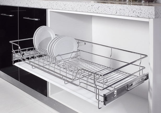 Pull Out Dish & Bowl Rack 800MM